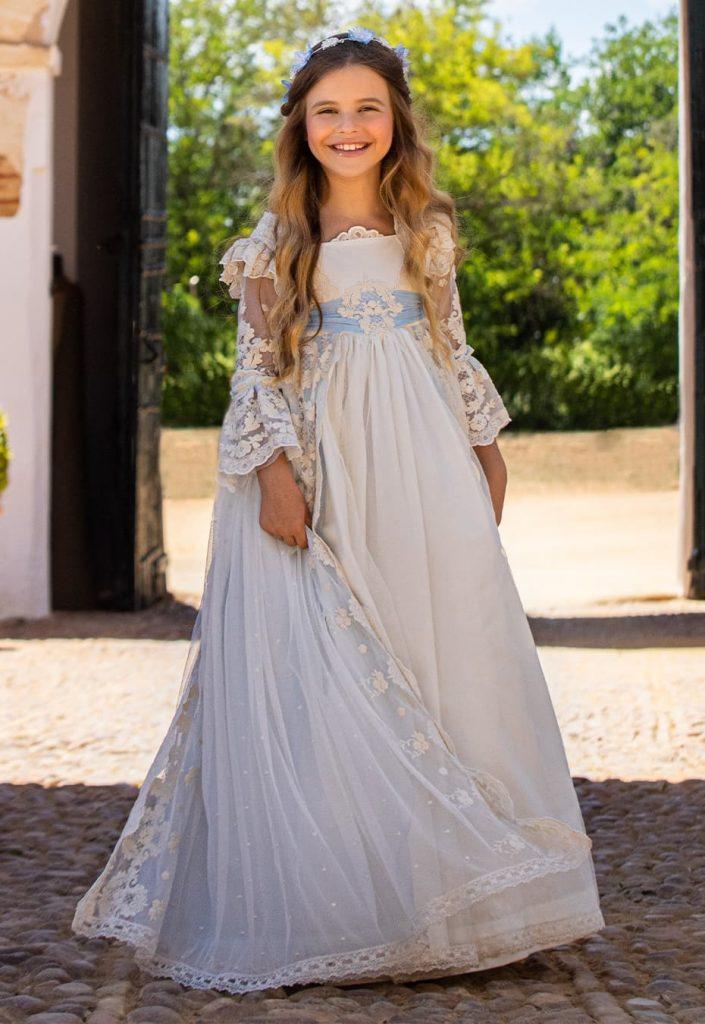 Vestido de comunión para niña 2021 Buleria Ensueño